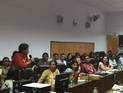 Prof. Manvi Seth conducting the Intangible Cultural Heritage workshop