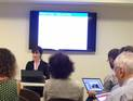 Heather Dunn presenting CHIN's LOD project
