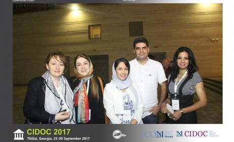 CIDOC 2017 conference attendees (L to R: Lana Karaia, Goli Sabahi, Ameeza Zarrin)