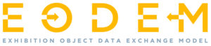 Logo for EODEM (Exhibition Object Data Exchange Model)